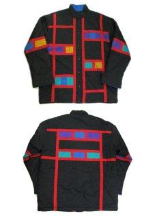 """画像3: 1990's """"Spencer Douglas"""" Design Nylon Patting Jacket BLACK size M (表記 M) (3)"""