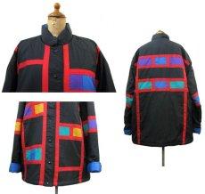 """画像2: 1990's """"Spencer Douglas"""" Design Nylon Patting Jacket BLACK size M (表記 M) (2)"""
