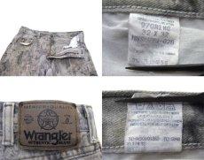 画像4: 1990's Wrangler Tree Camouflage Denim Pants Grey Beige size w 32 inch (表記 32 x 32) (4)
