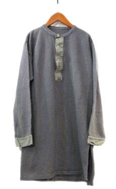 画像1: Swedish Military  Henley Neck Under Shirts Olive Grey size M - L (表記 不明) (1)
