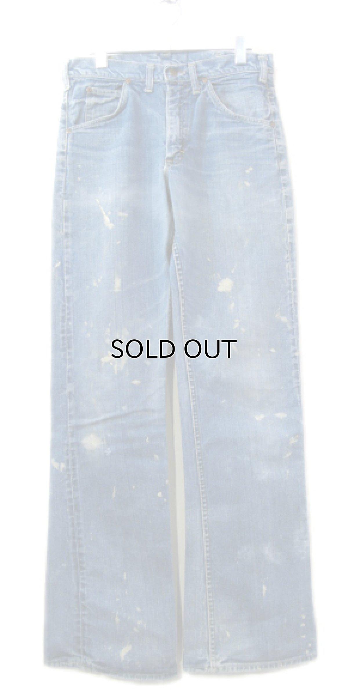 画像1: 1970's H.D.Lee Riders #200 Boots Cut Denim Pants Blue Denim size 31.5 inch (表記 不明) (1)