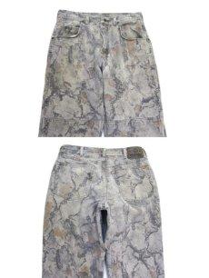 画像2: 1990's Wrangler Tree Camouflage Denim Pants Grey Beige size w 32 inch (表記 32 x 32) (2)