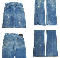 画像3: 1970's H.D.Lee Riders #200 Boots Cut Denim Pants Blue Denim size 31.5 inch (表記 不明) (3)
