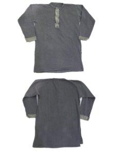 画像2: Swedish Military  Henley Neck Under Shirts Olive Grey size M - L (表記 不明) (2)