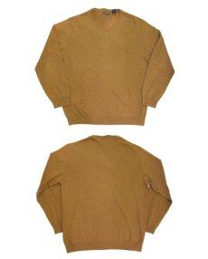 """画像4: """"St.JOHNS BAY"""" Light Weight V-Neck Cotton Knit BROWN size L (表記 L) (4)"""
