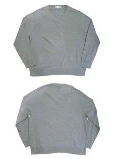 "画像4: ""Calvin Klein"" Light Weight V-Crew Cotton Knit GREY size XL (表記 XXL) (4)"