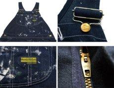 """画像3: 1970's Sears """"Tough Skins"""" Painted Worker Overall Blue Denim size M (表記 不明) (3)"""