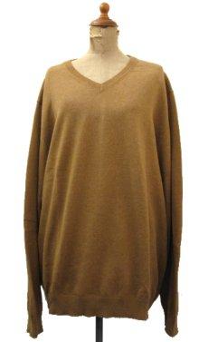 """画像1: """"St.JOHNS BAY"""" Light Weight V-Neck Cotton Knit BROWN size L (表記 L) (1)"""