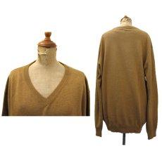 """画像2: """"St.JOHNS BAY"""" Light Weight V-Neck Cotton Knit BROWN size L (表記 L) (2)"""