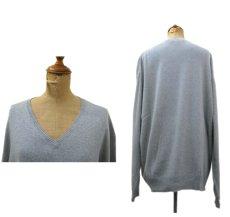 "画像2: ""Calvin Klein"" Light Weight V-Crew Cotton Knit GREY size XL (表記 XXL) (2)"