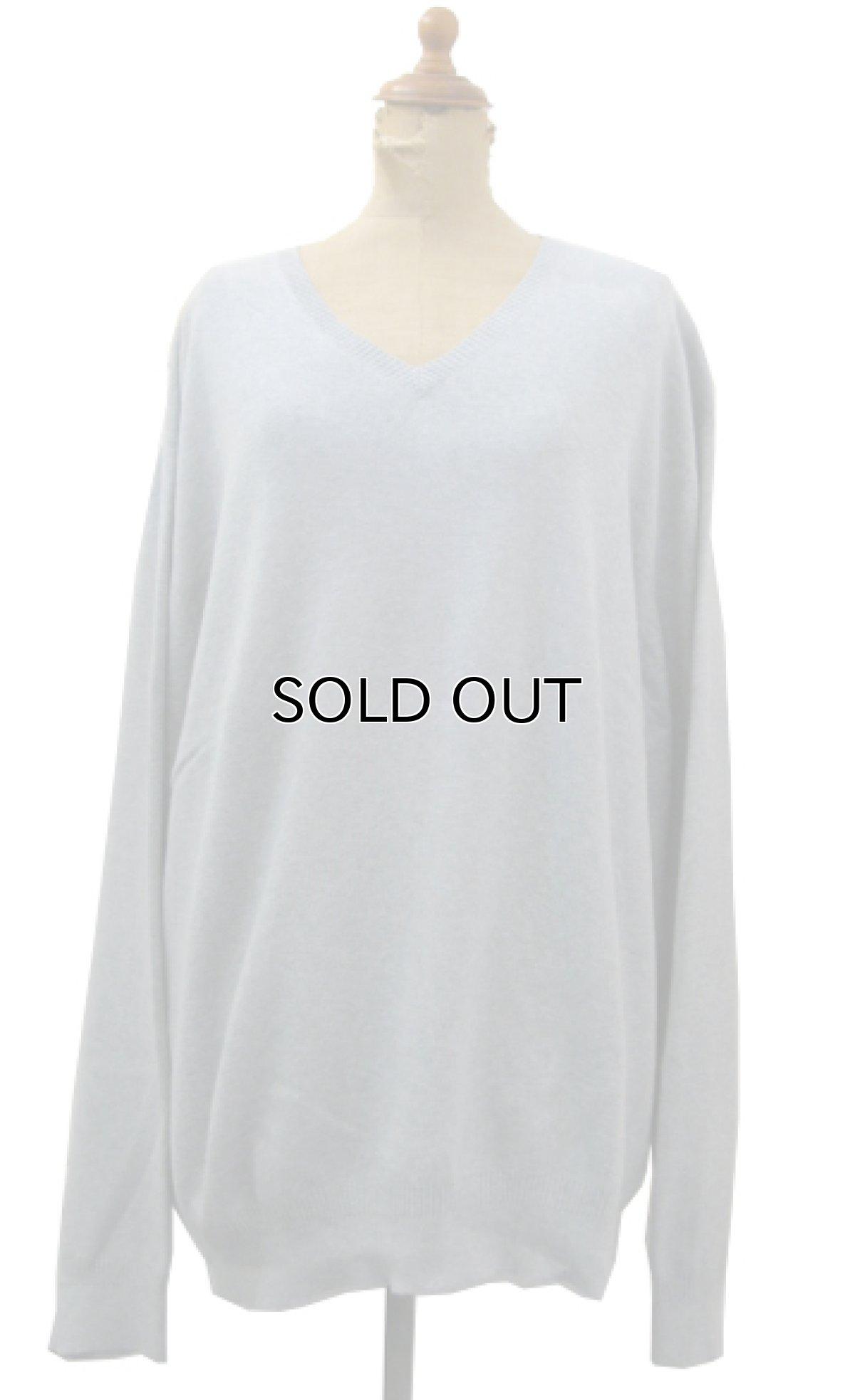 "画像1: ""Calvin Klein"" Light Weight V-Crew Cotton Knit GREY size XL (表記 XXL) (1)"