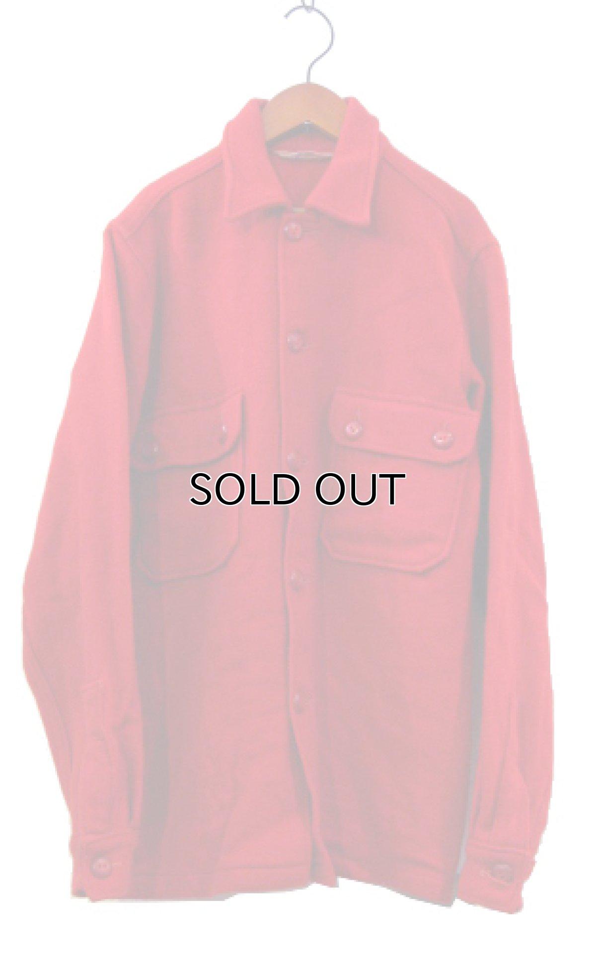 """画像1: 1970's """"BSA -Boy Scouts of America-"""" CPO L/S Wool Shirts RED size S (表記 不明) (1)"""