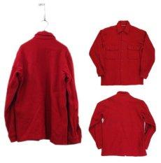 """画像2: 1970's """"BSA -Boy Scouts of America-"""" CPO L/S Wool Shirts RED size S (表記 不明) (2)"""
