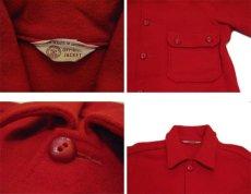 """画像3: 1970's """"BSA -Boy Scouts of America-"""" CPO L/S Wool Shirts RED size S (表記 不明) (3)"""