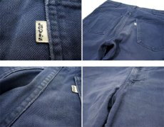 画像5: 1970's Levi Strauss & Co. Lot : 519 Cotton Twill Straight Trousers Fade Navy size w 31.5 inch (表記 w31 x L34) (5)