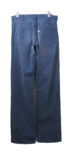 画像2: 1970's Levi Strauss & Co. Lot : 519 Cotton Twill Straight Trousers Fade Navy size w 31.5 inch (表記 w31 x L34) (2)
