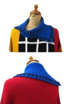 """画像3: 1990's """"I.B Diffusion"""" Design Cotton Knit Multi Color si ze L - XL (表記 M) (3)"""