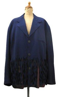 """画像1: """"Jean Paul GAULTIER"""" Design Tailored Jacket -made in ITALY- NAVY size L (表記 50) (1)"""