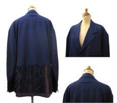 """画像2: """"Jean Paul GAULTIER"""" Design Tailored Jacket -made in ITALY- NAVY size L (表記 50) (2)"""