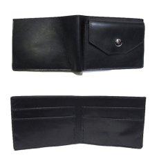 """画像3: """"JUTTA NEUMANN"""" Leather Wallet with Change Purse  color : Black / Emerald 二つ折り財布 (3)"""