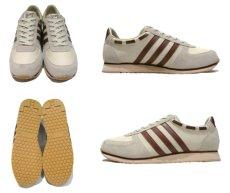 """画像2: 1980's """"SKIPS by Montgomery Ward"""" Low-Cut Sneaker Dead Stock made in TAIWAN Beige / Red Brown size 10.5 (28.5 cm) (2)"""