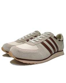 """画像1: 1980's """"SKIPS by Montgomery Ward"""" Low-Cut Sneaker Dead Stock made in TAIWAN Beige / Red Brown size 10.5 (28.5 cm) (1)"""