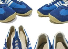 画像4: 1980's USA Nylon x Suede Running Shoes BLUE size  9 (27 cm) (4)
