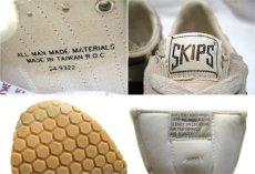 """画像4: 1980's """"SKIPS by Montgomery Ward"""" Low-Cut Sneaker Dead Stock made in TAIWAN Beige / Red Brown size 10.5 (28.5 cm) (4)"""