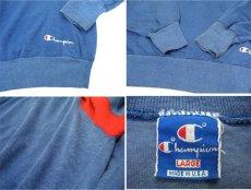 画像4: 1990's Champion L/S Jersey Shirts -made in USA- Blue / Red / White size M - L (表記 L) (4)