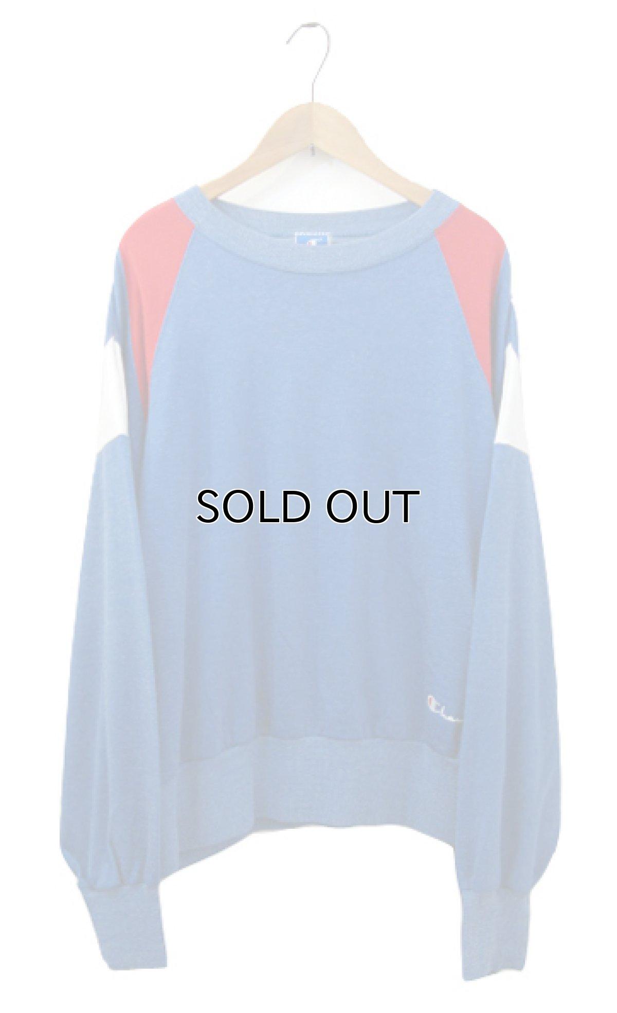 画像1: 1990's Champion L/S Jersey Shirts -made in USA- Blue / Red / White size M - L (表記 L) (1)