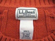 """画像2: """"L.L. Bean"""" Cotton Cable Sweater Orange size L-XL (表記 XL) (2)"""
