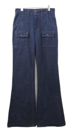 画像1: 1970-80's Levi's Vat-Dye Denim Bush Pants -made in U.S.A- size w 31 inch (表記 w31 x L34) (1)