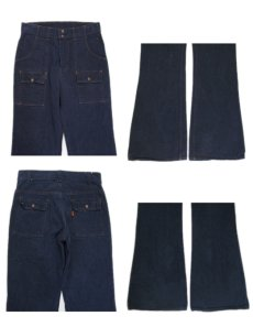画像3: 1970-80's Levi's Vat-Dye Denim Bush Pants -made in U.S.A- size w 31 inch (表記 w31 x L34) (3)