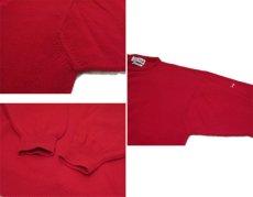 """画像5: 1980's~ """"Pringle"""" Lambswool Crew Neck Sweater -made in SCOTLAND- RED size XL (表記 不明) (5)"""