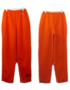 """画像2: 1960's """"Champion Product"""" Fleece Bottoms -made in USA- Orange size M (表記 12) (2)"""