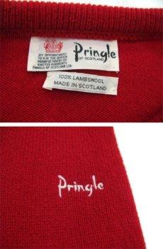 """画像3: 1980's~ """"Pringle"""" Lambswool Crew Neck Sweater -made in SCOTLAND- RED size XL (表記 不明) (3)"""