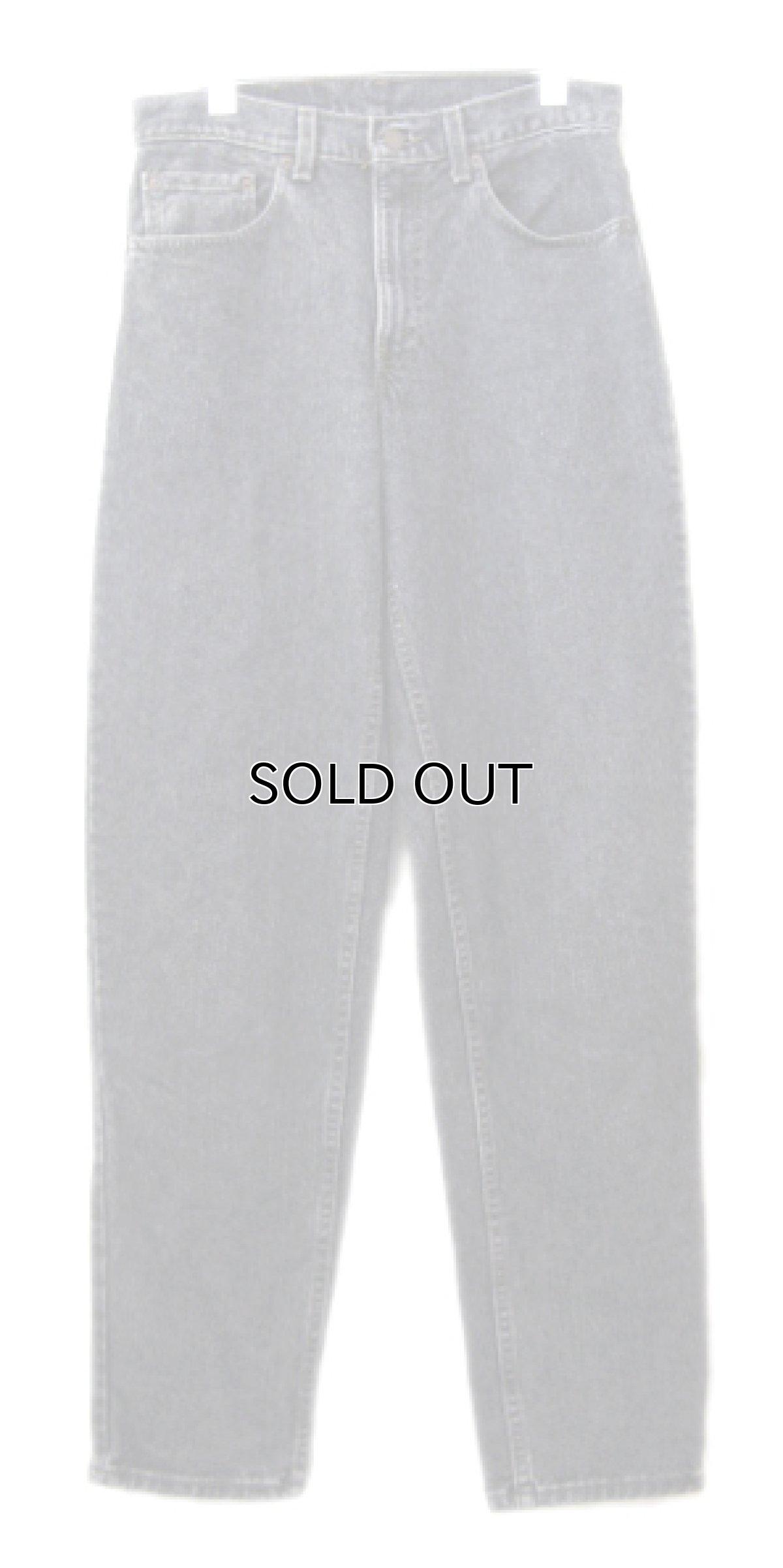 画像1: 1990's Levi's lot : 550 Denim Tapered Pants -made in USA- Black Denim size w 31inch (表記 w 31 x L 32) (1)