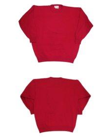 """画像4: 1980's~ """"Pringle"""" Lambswool Crew Neck Sweater -made in SCOTLAND- RED size XL (表記 不明) (4)"""