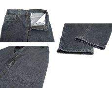 画像4: 1990's Levi's lot : 550 Denim Tapered Pants -made in USA- Black Denim size w 31inch (表記 w 31 x L 32) (4)