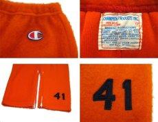 """画像3: 1960's """"Champion Product"""" Fleece Bottoms -made in USA- Orange size M (表記 12) (3)"""
