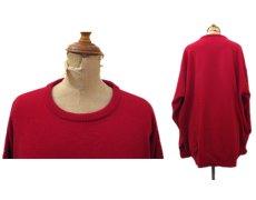 """画像2: 1980's~ """"Pringle"""" Lambswool Crew Neck Sweater -made in SCOTLAND- RED size XL (表記 不明) (2)"""