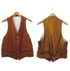 """画像2: OLD """"John Wanamaker"""" Pure Virgin Wool Vest Dead Stock -made in ENGLAND- Red Brown size M (表記 42) (2)"""