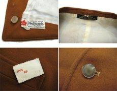 """画像3: OLD """"John Wanamaker"""" Pure Virgin Wool Vest Dead Stock -made in ENGLAND- Red Brown size M (表記 42) (3)"""