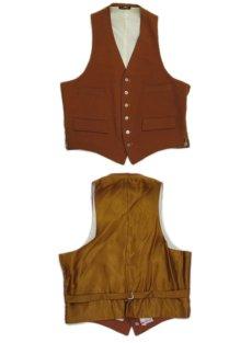 """画像7: OLD """"John Wanamaker"""" Pure Virgin Wool Vest Dead Stock -made in ENGLAND- Red Brown size M (表記 42) (7)"""