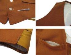 """画像5: OLD """"John Wanamaker"""" Pure Virgin Wool Vest Dead Stock -made in ENGLAND- Red Brown size M (表記 42) (5)"""