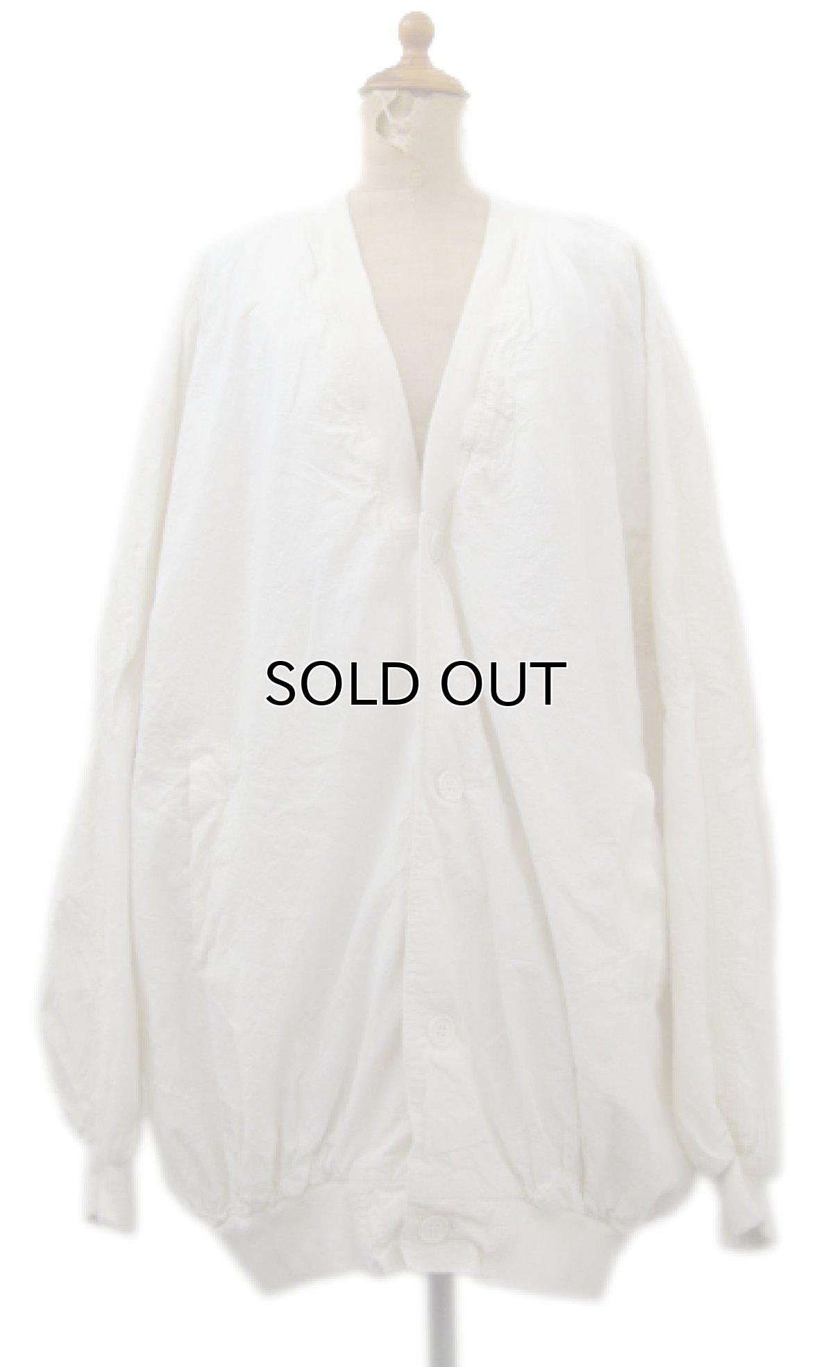 """画像1: """"Boomerang"""" Nep Cotton Cardigan Dead Stock one-washed NATURAL size XL~ (表記 L) (1)"""