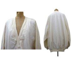 """画像2: """"Boomerang"""" Nep Cotton Cardigan Dead Stock one-washed NATURAL size XL~ (表記 L) (2)"""