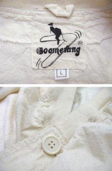 """画像3: """"Boomerang"""" Nep Cotton Cardigan Dead Stock one-washed NATURAL size XL~ (表記 L) (3)"""