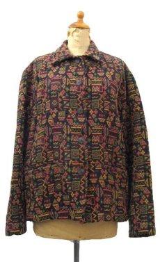 """画像1: 1980's~ """"CHICO'S Design"""" Design  Native Jacket Multi Color size L (表記 2) (1)"""