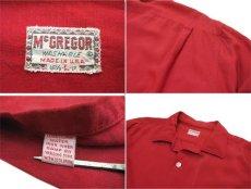 """画像4: 1960's """"McGREGOR"""" L/S Rayon Box Shirts RED size L (表記 L 16 1/2 - 17) (4)"""